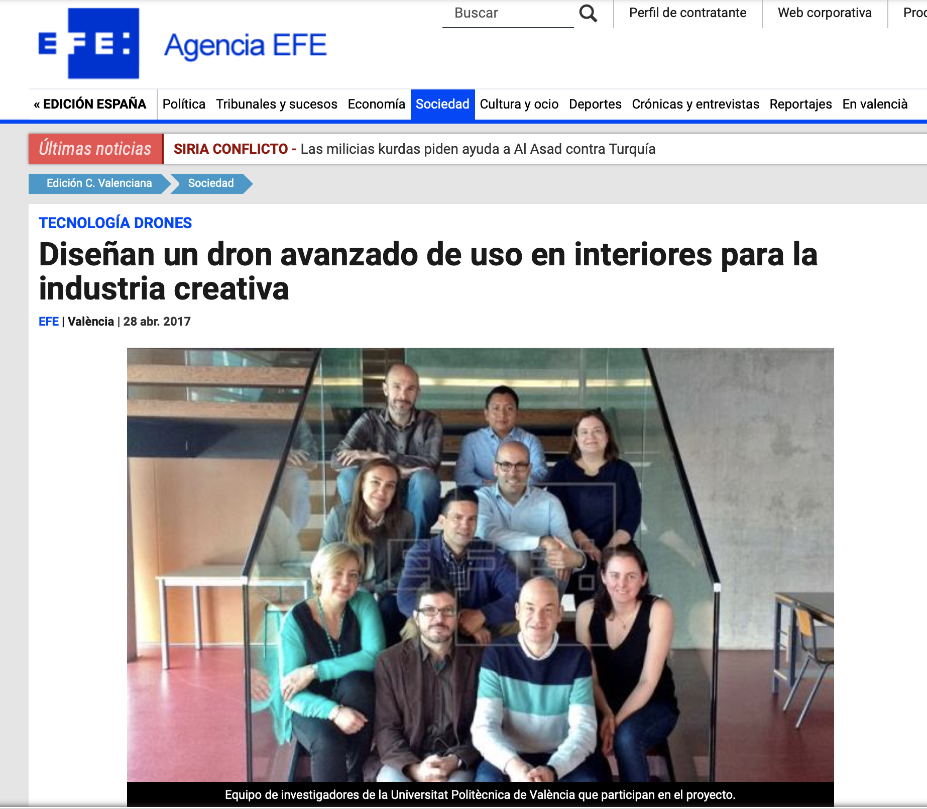 AiRT in Agencia EFE