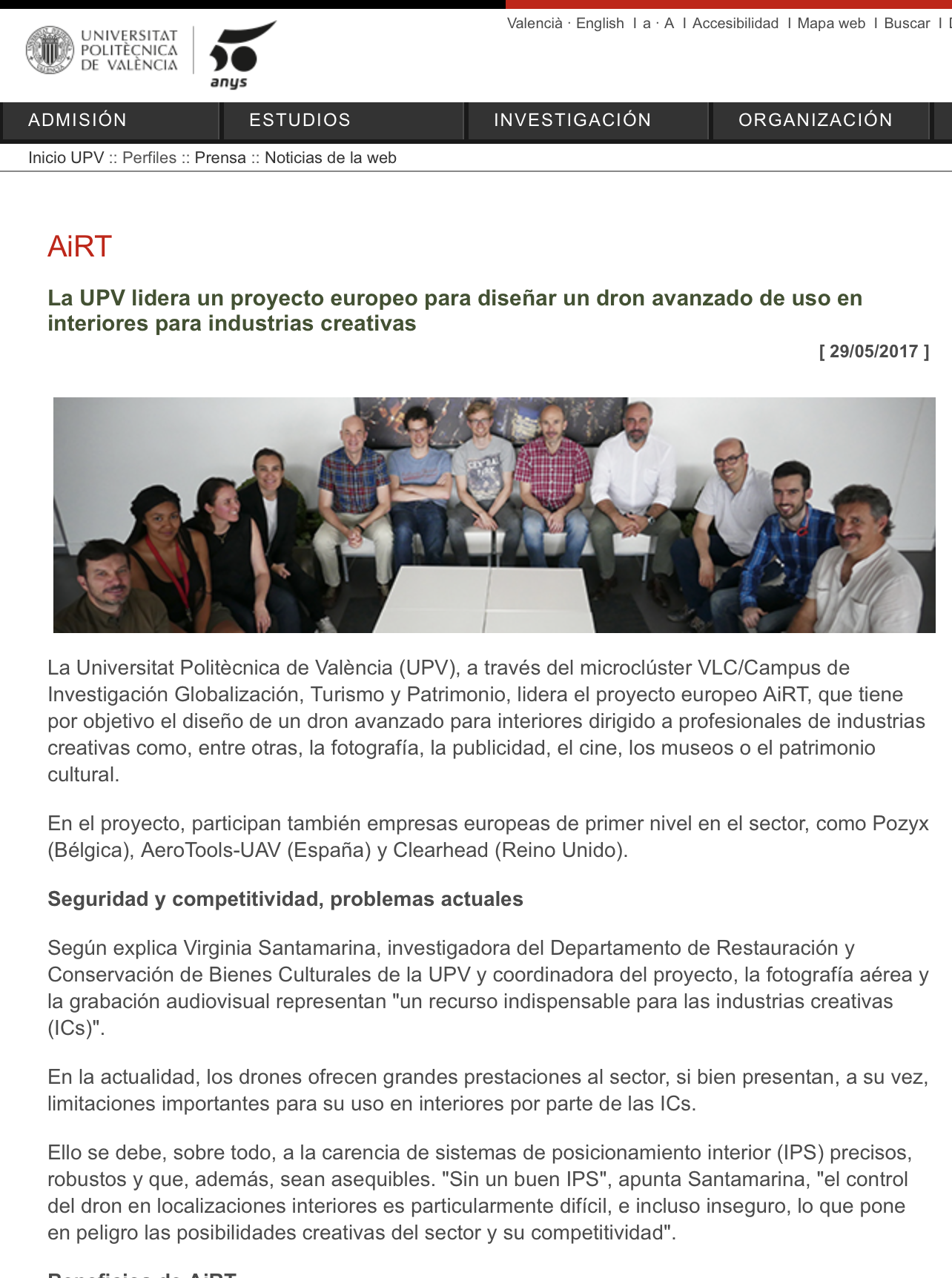 AiRT in UPV