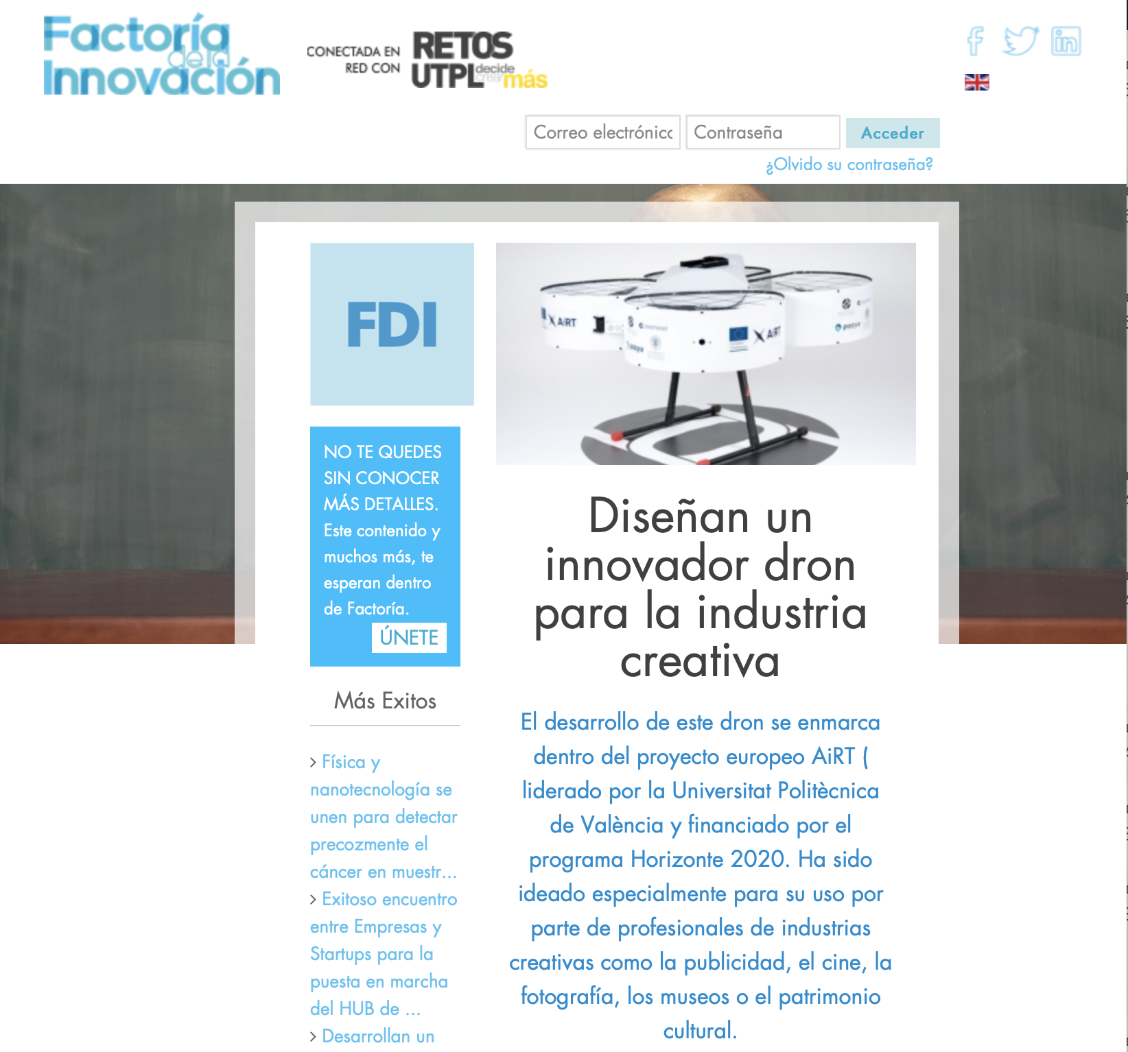 AiRT in Factoría de la Innovación