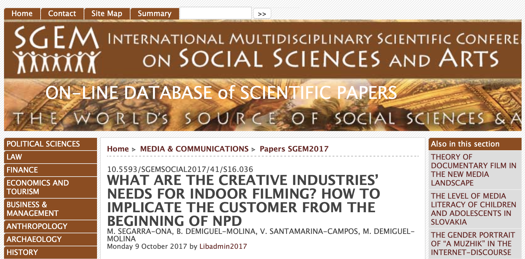 AiRT Project in 4th International Conferences on Social Sciences and Arts