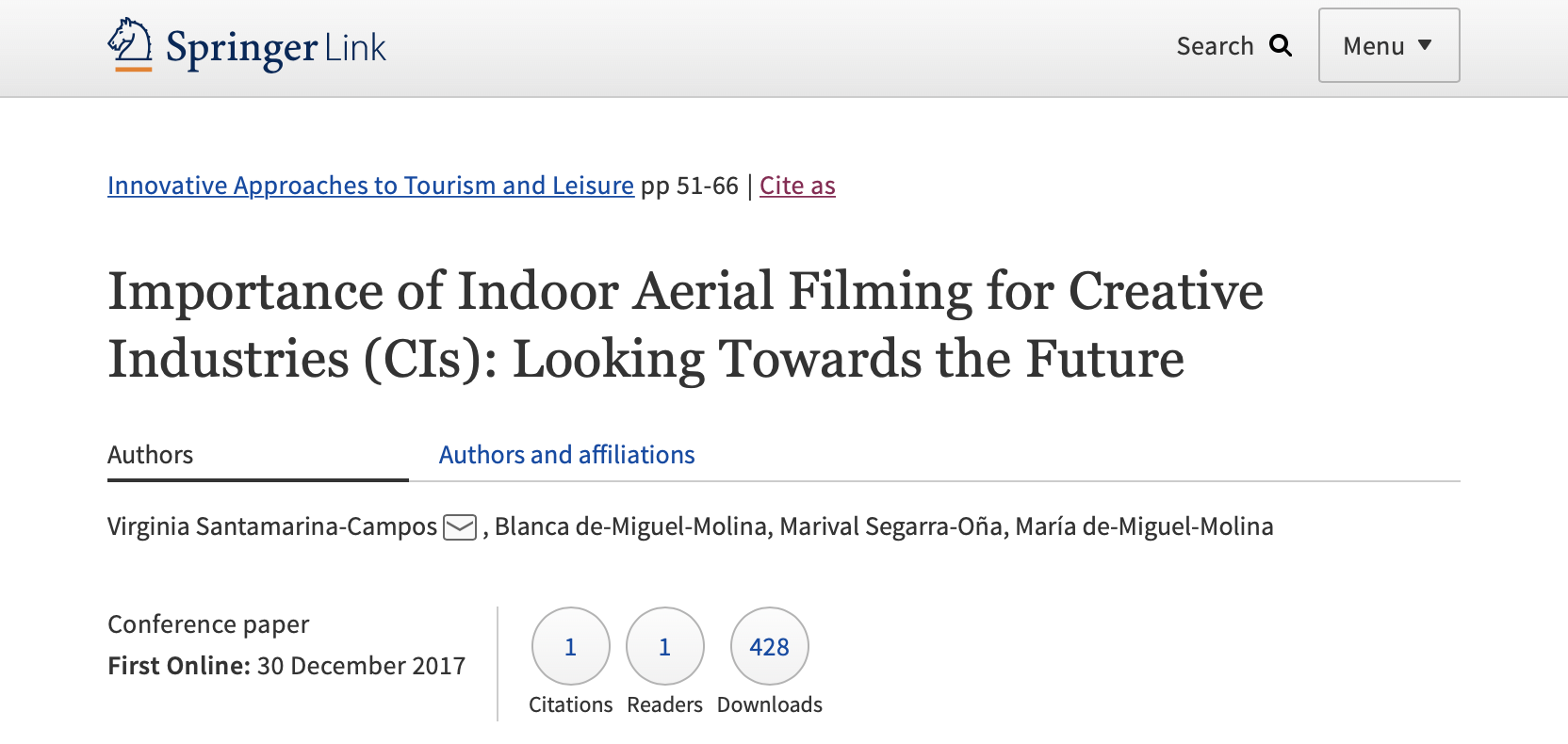 AiRT Project in Innovative Approaches to Tourism and Leisure. Springer Proceedings in Business and Economics